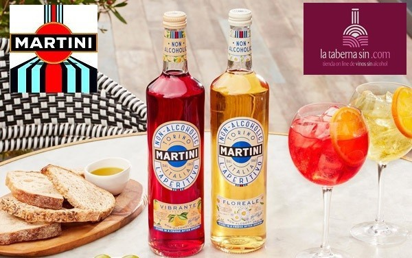 Martini y vermut sin alcohol.